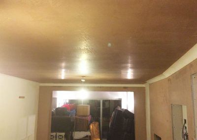 artex Ceiling after,plastered