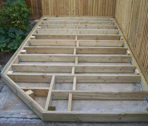 decking structure low level