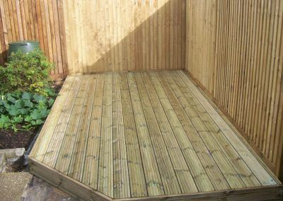 decking structure low level complete