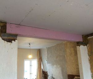 steel beam fitted