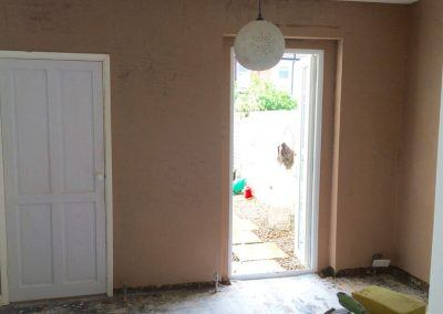 internal walls plastered