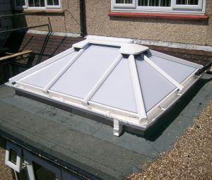 Roof skylight, complete
