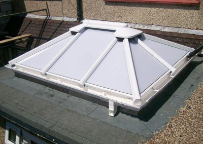 Roof skylight, complete