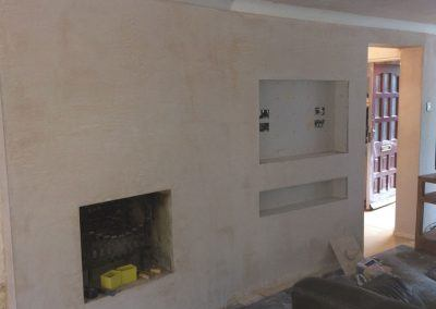 feature stud wall / partition, plastered